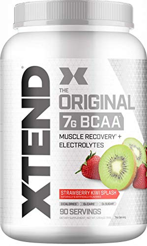 Scivation Xtend BCAA Powder, 7g BCAAs, Branched Chain Amino Acids, Keto Friendly, Strawberry Kiwi Splash, 90 Servings