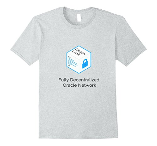 Mens ChainLink Coin LINK Crypto T-Shirt Small Heather Grey (Chain Link T-shirt)