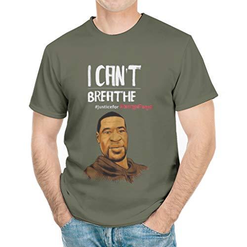 fnvjnduhj I Can't Breathed Black Lives Matter Justice for George Floyd Tee Shirt, Novelty Sarcasm Funny T Shirts
