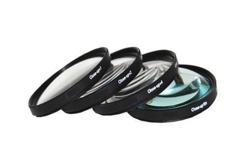 PLR Optics 4PC LENS-63 52mm +1 +2 +4 +10 Close-Up Macro Filter Set with Pouch