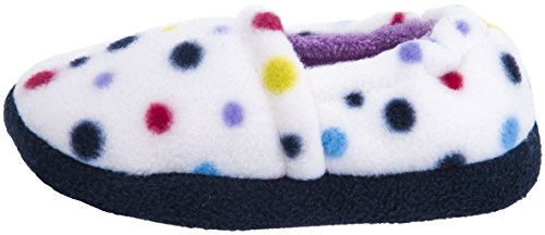 MIXIN Girls Memory Foam Indoor Outdoor Winter Warm Cute Soft Cozy Slip on Non Slip Slippers Shoes(Toddler/Little Kid) Dots Size 9-10 M by MIXIN (Image #5)