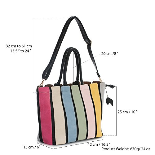 Shoulder Shoulder Handbag 2018 in Stripes Dust Beige Multi Coloued Long with Strap Charm Mabel Bag and Womens 8qCEww