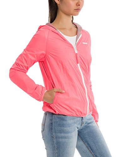 Bench Core Easy Windbreaker, Chaqueta Impermeable para Mujer Rosa (Neon Pink Pk11482)