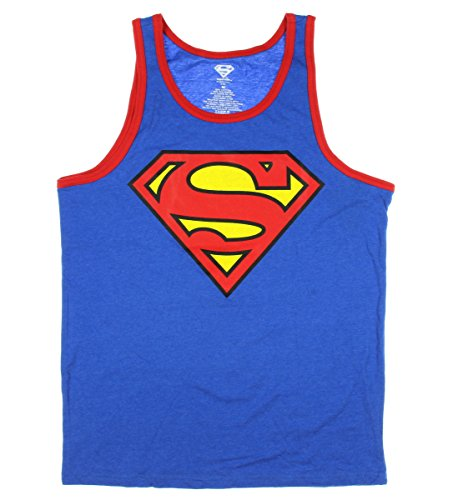 DC Comics Superman Mens' Superman Logo Licensed Graphic Tank Top - XX-Large
