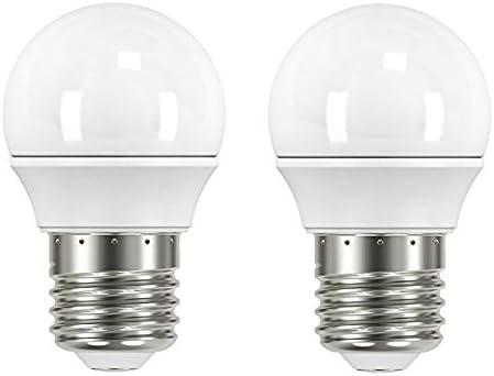 Garza Lighting - Pack de 2 bombillas LED esféricas, potencia 3.5W, luz cálida 2700K: Amazon.es: Iluminación