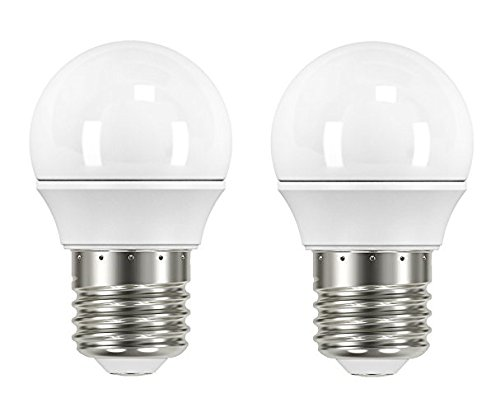 Garza Lighting - Pack de 2 bombillas LED esféricas, potencia 3.5W, luz cálida 2700K: Amazon.es: Iluminación