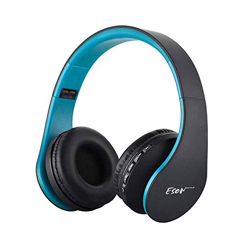 Esonstyle Over-ear Bluetooth Headphones,Foldable Wireless Bluetooth Stereo Headset wired headphone with Handsfree Call Working with All 3.5 mm Music Device and Mobile phone