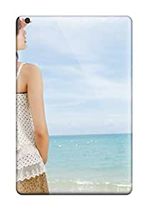 Durable Girl On The Beach With Flower Back Case/cover For Ipad Mini 2