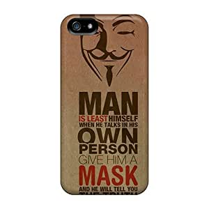 Defender Case For Iphone 5/5s, Anonymous Mask Quote Pattern