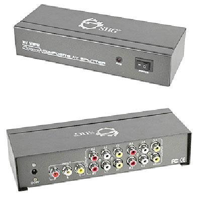 SIIG CE-CM0311-S1 1x4 Composite Video and Audio Splitter by SIIG