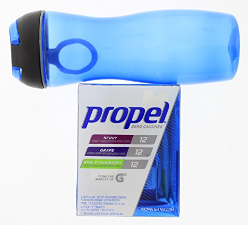 Propel Zero Calorie Water Beverage Mix Variety Pack with Water Bottle (1 box)