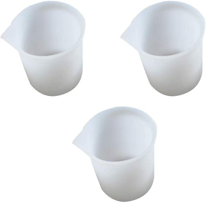 Artibetter Silicone Measuring Cups Silicone Mixing Cups for Epoxy Resin Casting Molds 3Pcs
