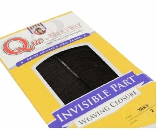 Que by MilkyWay 100% Human Hair MasterMix INVISIBLE PART WEAVING CLOSURE (12