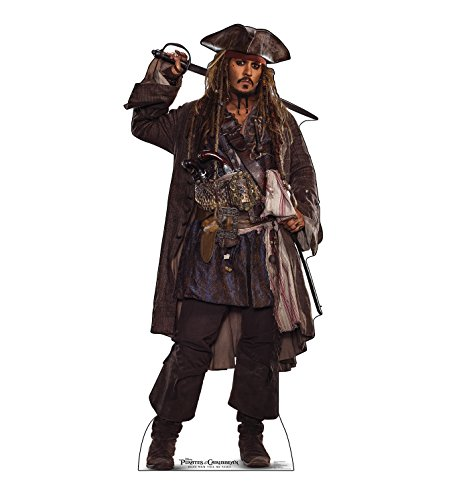 (Advanced Graphics Jack Sparrow Life Size Cardboard Cutout Standup - Pirates of The Caribbean: Dead Men Tell No Tales (2017 Film))