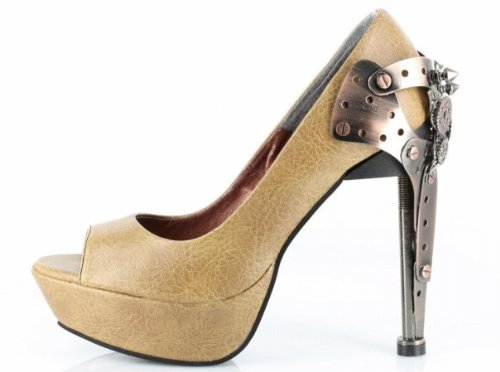 Stiletto Titan Platforms Steampunk Shoes Mustard Hades 0RqwZEx