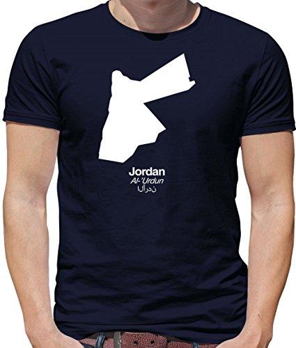 Mens Crewneck T-Shirt - Navy 2XL (Jordan Silhouette)