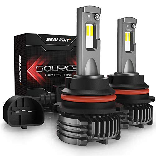 - 9007/HB5 Hi/lo LED headlight bulbs 12,000 Lumen High Power 6000K SEALIGHT S3 Upgraded Series 3 Yr Warranty(2 Pack)