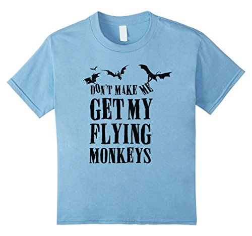 Infant Monkey Flying Costume (Kids Don't Make Me Get My Flying Monkeys T-Shirt 8 Baby)