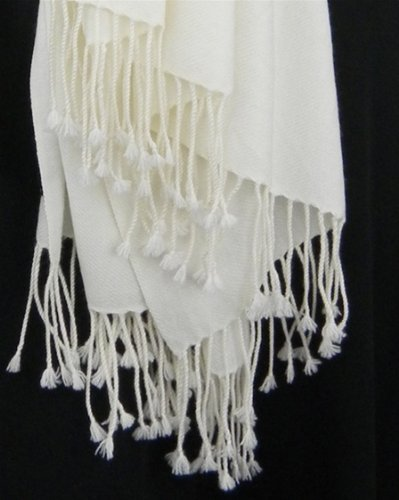 Pure Pashmina Wrap 3 Ply Natural