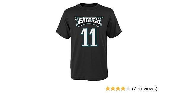 48103027d3e Amazon.com : Carson Wentz Philadelphia Eagles #11 Youth Mainliner Player T-Shirt  Black : Sports & Outdoors