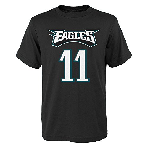 - Carson Wentz Philadelphia Eagles #11 Youth Mainliner Player T-Shirt Black (Youth X-Large 18)