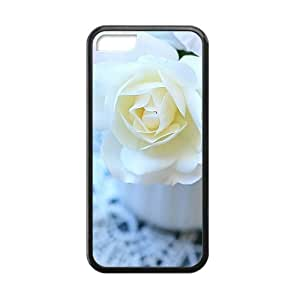 pure white flowers elegant personalized high quality cell phone case for Iphone 6 (4.5)