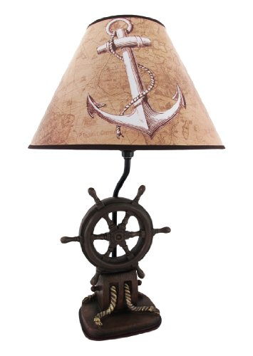 `Captain`s Destiny` Ship`s Wheel Table Lamp