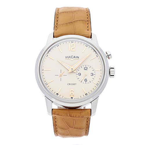 Vulcain 50s Presidents Mechanical (Hand-Winding) Cream Dial Mens Watch 400150A76.BAL114 (Certified Pre-Owned)