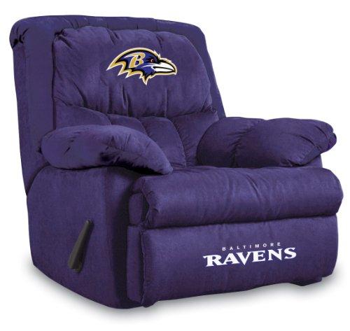 Imperial Officially Licensed NFL Furniture: Home Team Microfiber Rocker Recliner, Baltimore Ravens