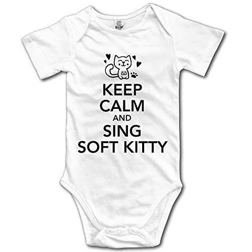 Librarian Costume Props (Newborn Baby Keep-calm-and-sing-soft-kitty Short-Sleeveless Romper Jumpsuit Bodysuit 24 Months)