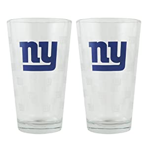 New York Giants Satin Etch Pint Glass Set