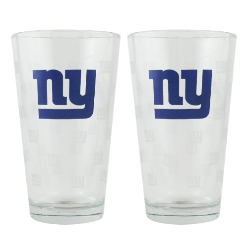 New Glass Giants York - New York Giants Satin Etch Pint Glass Set