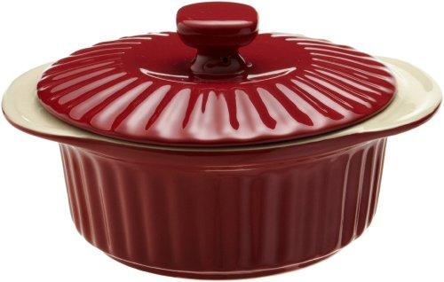 Good Cook 1.5 Quart Ceramic Covered Casserole, Red