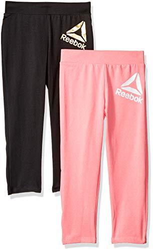 Reebok Girls' Big 2 Pack Sports Legging Set, Coral Lava S ()