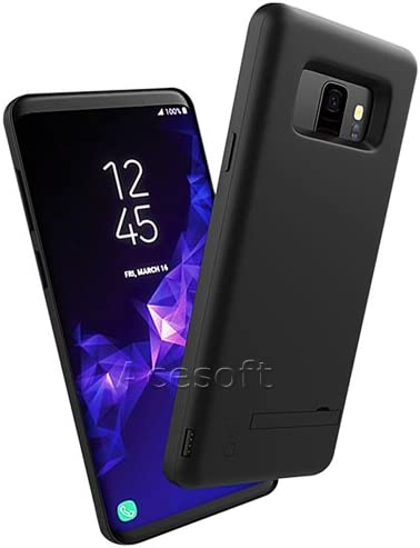 Galaxy S9 for External Battery Power 5000mAh Rechargeable Cover Case