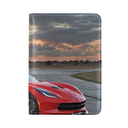 - Chevrolet Corvette Stingray Twin Turbo C7 2014 Leather Passport Holder Cover Case Travel One Pocket