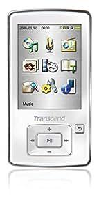 8GB Transcend MP870 Digital Music Player w/ FM Radio, Voice Recorder, microSD slot - white