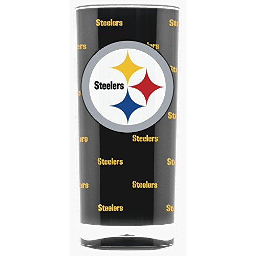 (NFL Pittsburgh Steelers 16oz Insulated Acrylic Square Tumbler)