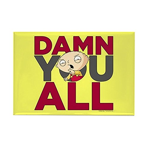 CafePress Family Guy Damn You All Rectangle Magnet, 2