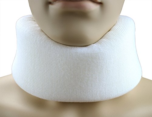 ObboMed® MB-4870N Cozy & Firm Foam Cervical Collar- Relief Neck Rest Support Brace- Wraps Aligns & Stabilizes Vertebrae (L: 21 x 3.5 x 1 inches)
