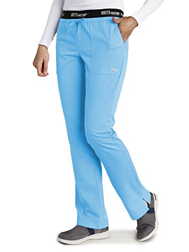 Grey's Anatomy Active 4275 Drawstring Scrub Pant Ice Berg M Petite by Barco