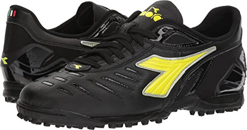 Men's Yellow Fluo Shoes Diadora Maracana Soccer 18 TF Black gdq1xP8