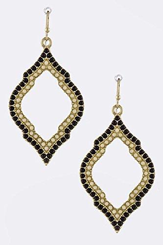 Avon Marcasite Ring (KARMAS CANVAS BEADED OUTLINED ORNATE DROP EARRINGS (Ivory))