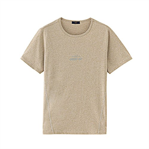 Men's T-Shirt Round Neck Flower Yarntech Shortsleeve,Gray,XL