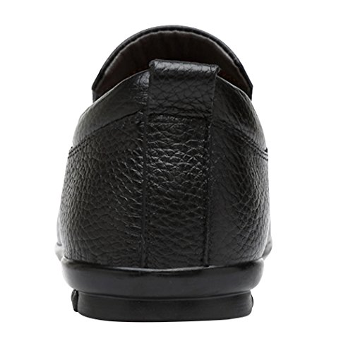 Fashion Casual Sun on Slip Leather Shoes British Handwork Black Lorence Mens Soft Loafers Lightweight tqnqAZrP