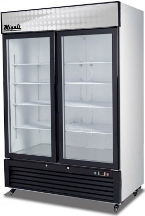 Commercial 2 Glass Door Reach-In Merchandiser Freezer