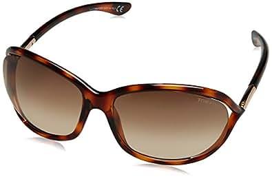 Tom Ford Women's Gradient Jennifer FT0008-52F-61 Tortoiseshell Rectangle Sunglasses