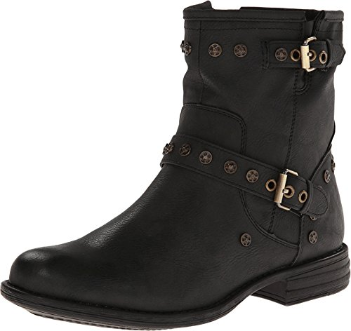 Womens Black Harness Boots - 8