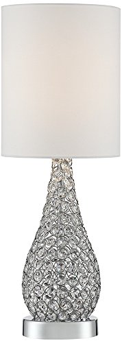 Leola Crystal Bead Gourd Table Lamp (Table Lamps Crystal compare prices)