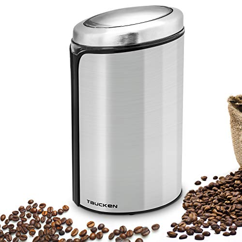Coffee Grinder Electric,Taucken Coffee Bean Grinder Stainless Steel Blade Coffee Grinding Coffee Beans,Nuts,Pepper,Spices(Sliver)